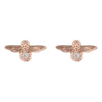 Olivia Burton Rose Gold Metal Plated Quartz Stud Earrings - Product number 3945251