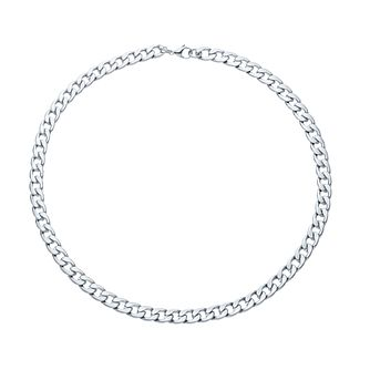 "Stainless Steel 22"" Men's Wide Curb Chain Necklace - Product number 3945553"