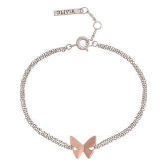 Olivia Burton Rose Gold Plated Butterfly Bracelet - Product number 3945634