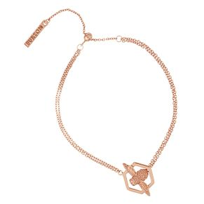 Olivia Burton Honeycomb Bee Rose Gold Metal Plated Bracelet - Product number 3945642