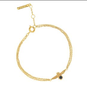 Olivia Burton Bejewelled Gold Metal Plated Onyx Bracelet - Product number 3945669