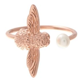 Olivia Burton Honeycomb Bee Rose Gold Plated Ring - Product number 3945731