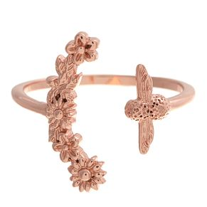 Olivia Burton Bee Blooms Rose Gold Metal Plated Ring - Product number 3945766