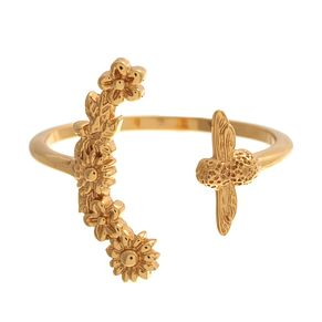 Olivia Burton Bee Blooms Yellow Gold Metal Plated Ring - Product number 3945774