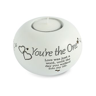 Said With Sentiment You're The One Tea Light Candle Holder - Product number 3946282
