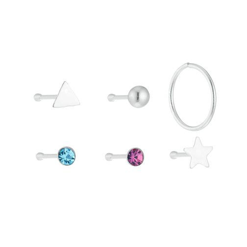Sterling Silver Nose Studs Set of 6 - Product number 3952622