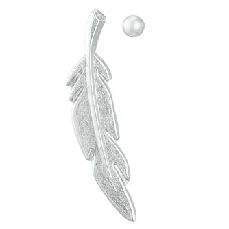Sterling Silver Feather & Ball Mismatched Earrings - Product number 3952800