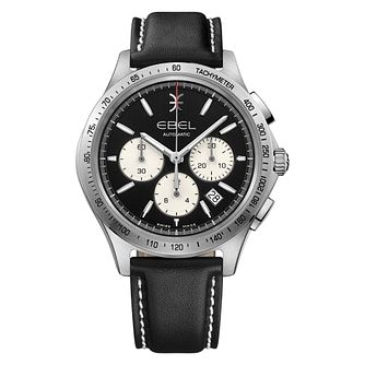Ebel Wave Men's Stainless Steel Black Dial Strap Watch - Product number 3955044