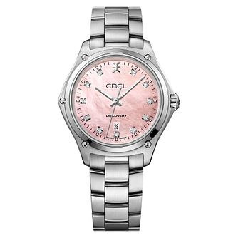 Ebel Discovery Ladies' Stainless Steel Pink Dial Watch - Product number 3955052