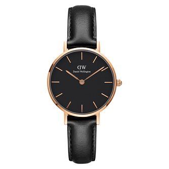 Daniel Wellington Classic Petite Ladies' Black Leather Watch - Product number 3956008