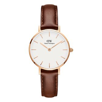 Daniel Wellington Classic Petite Ladies' Brown Leather Watch - Product number 3956016
