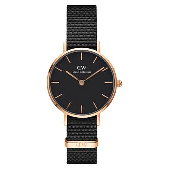 Daniel Wellington Classic Petite Ladies' Black Strap Watch - Product number 3956040