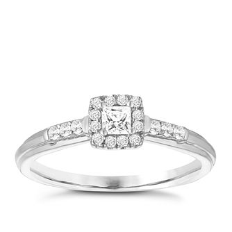 9ct White Gold 1/5ct Diamond Solitaire Ring - Product number 3956083
