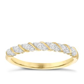 9ct Yellow Gold 0.15ct Diamond Eternity Ring - Product number 3956512
