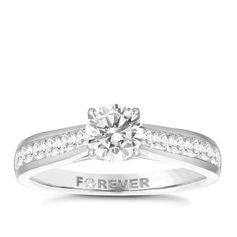 18ct White Gold 1ct Forever Diamond Ring - Product number 3957500