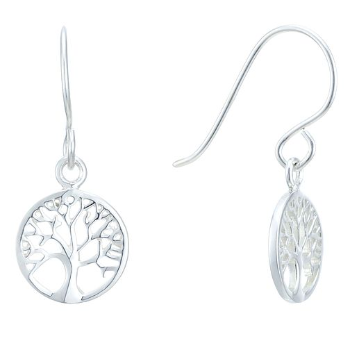 Sterling Silver Tree Of Life Design Drop Earrings - Product number 3959244