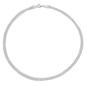 "Sterling Silver 17"" 5 Strand Bead Chain Necklace - Product number 3959805"
