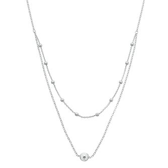 "Sterling Silver 18"" Multi Bead Necklace - Product number 3959856"
