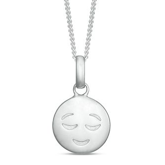 Sterling Silver Smiley Emoticon Pendant - Product number 3960161