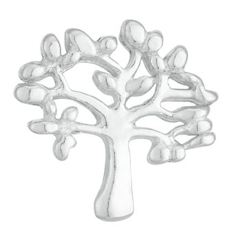 Sterling Silver Tree Design Single Stud Earring - Product number 3961311