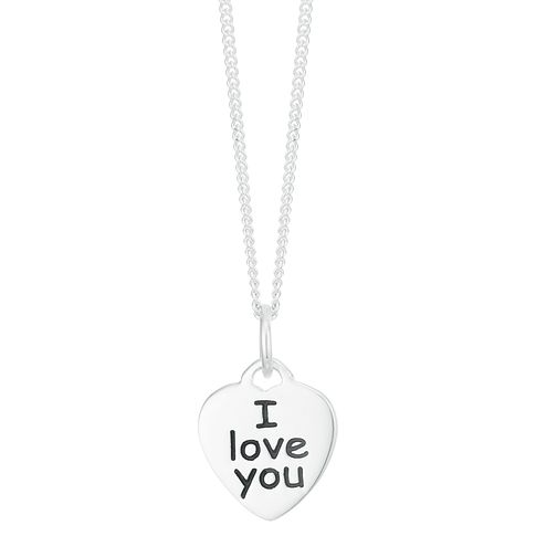 Sterling Silver 'I Love You' Pendant - Product number 3961559