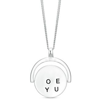Sterling Silver 'I Love You' Spinning Pendant - Product number 3961575
