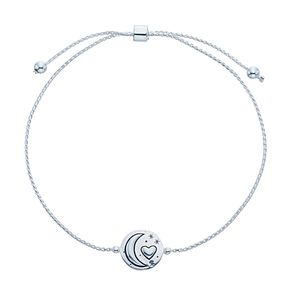 Sterling Silver 'To The Moon And Back' Adjustable Bracelet - Product number 3961885