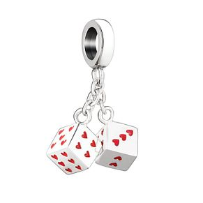 Chamilia Roll The Dice Sterling Silver & Enamel Charm - Product number 3963136