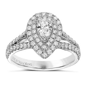 Vera Wang  platinum 0.95ct H1/SI2I1 diamond ring - Product number 3970566