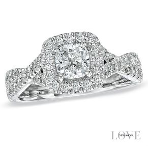 Vera Wang platinum 1.30ct diamond halo ring - Product number 3973344