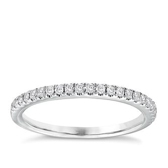 Vera Wang platinum 0.23ct diamond wedding band - Product number 3974537