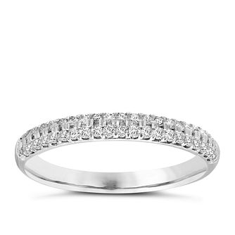 Vera Wang  platinum 0.37CT diamond wedding band - Product number 3974693