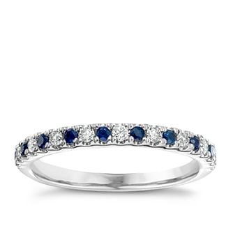 Vera Wang  platinum diamond & sapphire wedding band - Product number 3974839