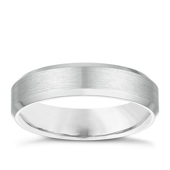 Palladium 950 5mm Bevelled Edge Wedding Ring - Product number 3976041