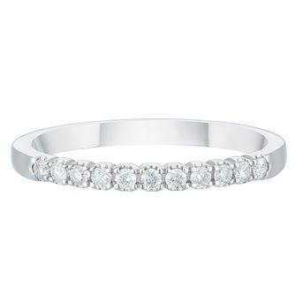 Palladium 950 0.15ct Diamond Claw Set Wedding Ring - Product number 3976572