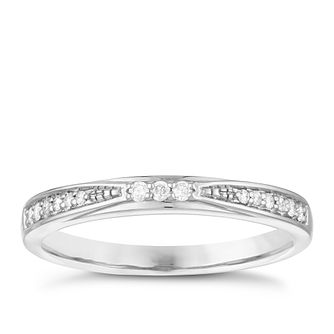 Palladium 950 Diamond Set Wedding Ring - Product number 3977366