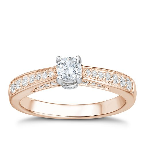 Tolkowsky 18ct Rose Gold 0.50ct I-I1 Diamond Ring - Product number 3978060