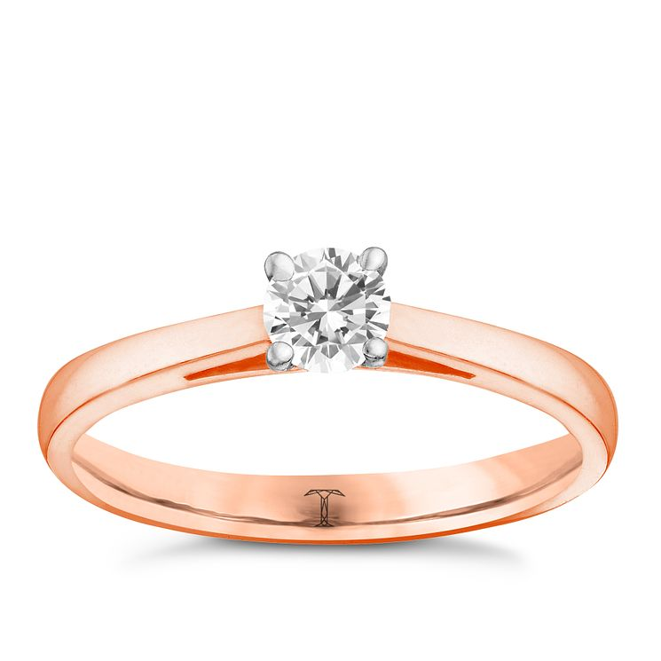 Tolkowsky 18ct rose gold 0.25ct I-I1 diamond ring - Product number 3979644