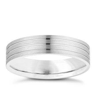 Palladium 500 5mm Striped Wedding Ring - Product number 3979830
