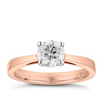 Tolkowsky 18ct rose gold 1.00ct HI-SI2 diamond ring - Product number 3983838
