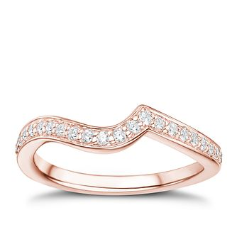 Tolkowsky 18ct Rose Gold 17ct Diamond Shaped Ring - Product number 3984044