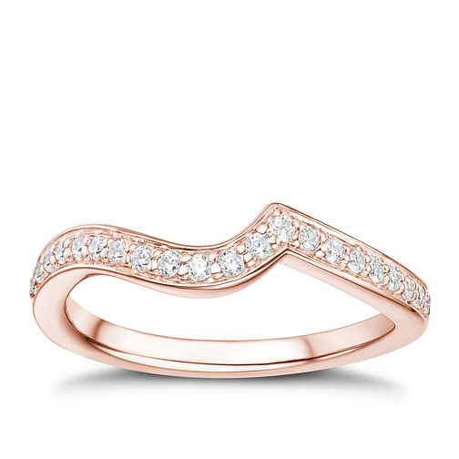 Tolkowsky 18ct Rose Gold 17pt Diamond Shaped Ring - Product number 3984044
