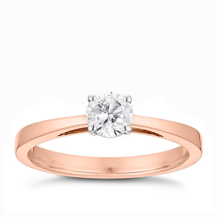 Tolkowsky 18ct rose gold 0.40ct HI-VS2 diamond ring - Product number 3984893