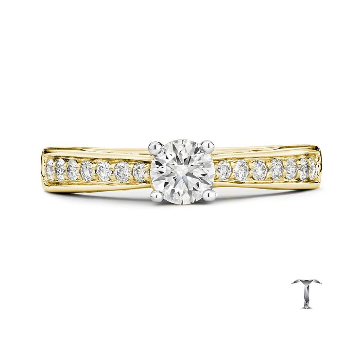 Tolkowsky 18ct Gold 0.66ct I-I1 Diamond Ring - Product number 3986225