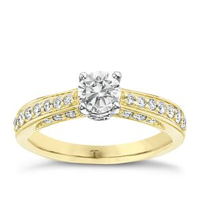 Tolkowsky 18ct Gold 1ct I-I1 Diamond Ring - Product number 3987086