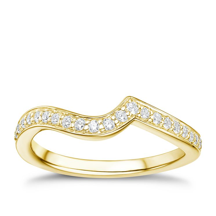 Tolkowsky 18ct gold 17pt diamond shaped ring - Product number 3992683