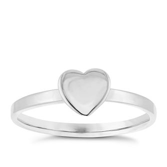Sterling Silver Heart Ring Size P - Product number 3994554