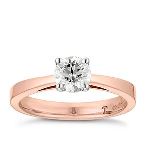 Tolkowsky 18ct rose gold 2/3ct HI-VS2 diamond ring - Product number 3995305