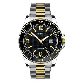Sekonda Men's Two-Tone Stainless Steel Bracelet Watch - Product number 4017668