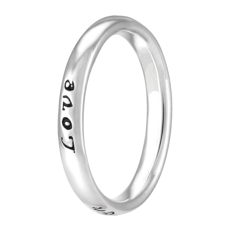 Chamilia Sterling Silver Live Laugh Love Ring Small - Product number 4019482